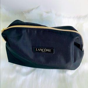 🎀 Lancome Paris Black Spacey Designer Spacey Beauty' Cosmetics Bag 8.5' x 5.5'